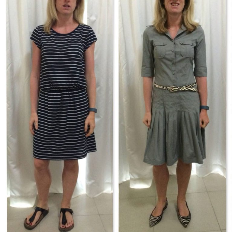 Swapping 1 cotton dress to another gives instant improvement