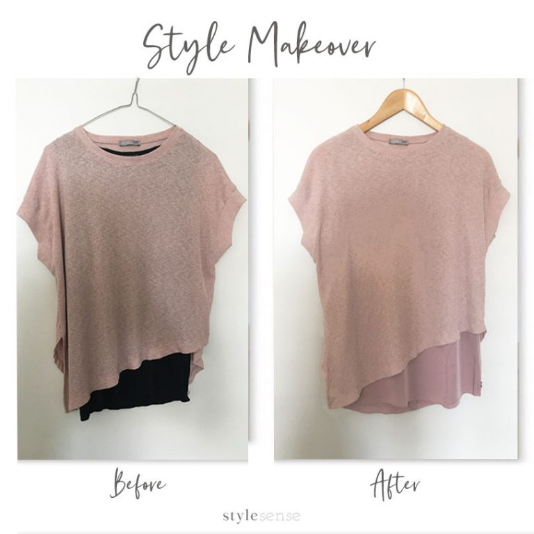 A garment makeover from what my client already owns!
