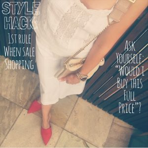 Style tip sale shopping