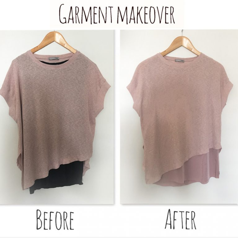 How much better does this asymmetric top look better after a makeover?