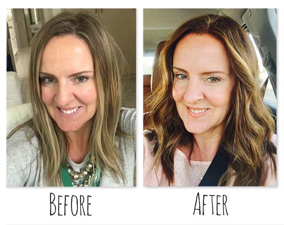 A total hair makeover simply by tweaking the shade