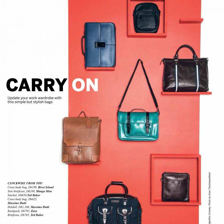 Men's Fashion Stylist : Bag Photo Shoot